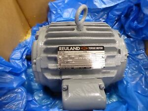 Reuland 0240h 1lln 0003 Electric Torque Motor Double Shaft 3 Ph 145tz Frame 460v