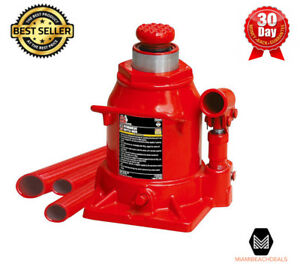 20 Ton Low Profile Bottle Jack Heavy Duty Car Auto Repair Shop Hydraulic Lift