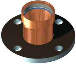 Epc Elkhart Xpress Ld c 8771 Lead free 4 In X 9 Large Copper Adapter Flange