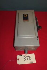 Square D Safety Switch Series E1 Cat No H361 376