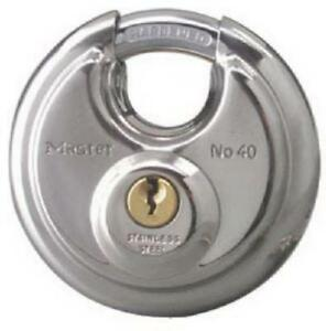 2 3 4 Wide Disk shaped High Security Shielded Padlock Only One