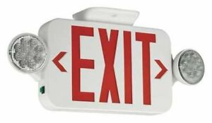 Exit Sign With Emergency Lights 3 56w