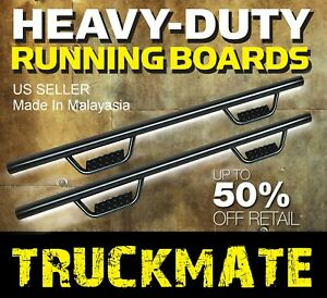 Running Boards Side Step Boards Nerf Bar Fit 06 21 Toyota Tacoma Crew Cab Matte