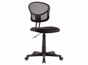 New Mesh Office Chair Black Dual wheel Casters Comfortable Armless Relaxing