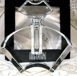 Oleg Cassini Sgn Crystal Perfume Bottle W Dauber Box