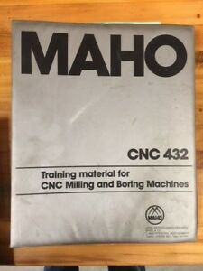 Maho Training Material For Cnc Milling And Boring Machines Cnc432