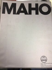 Maho Programming Instructions For Universal Milling And Boring Machines W Cnc432