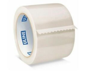 Uline Packing Tape 3 X 55 Yd 2 6 Mil Crystal Clear Heavy Duty Tape Pack Of 24