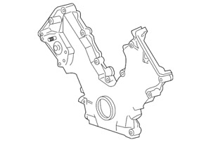 Genuine Ford Timing Cover 2w7z 6019 ab
