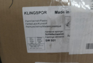 Lot Of 250 Klingspor Sw501 Abrasive Sponge 220 Grit 123 X 96 X 12 5 Mm Wet
