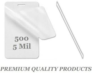 500 Luggage Tags Laminating Pouches W slot 2 1 2 X 4 1 4 5 Mil With Clear Loops