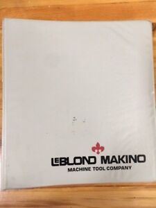 Leblond Makino Manual Count 15 Maintenance For Ct40 Gildemaster