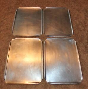 4 Stainless Steel Restaurant Steam Table Pan Lids Covers 16 1 2 X 12 3 4 Wide