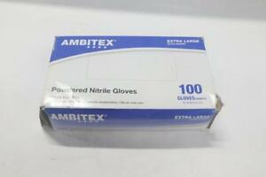 Lot Of 6 Box Of 100 Tradex Nitrile General Purpose Gloves Xl Blue