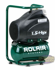 1 5 Gallon Rolair Fc1500hbp2 Electric Hand Carry Air Compressor 125 Psi 115v
