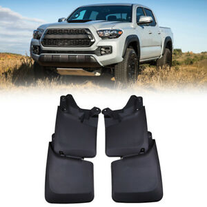Splash Guards Mud Flaps Mudguards Black Front Rear For 2016 2018 Toyota Tacoma