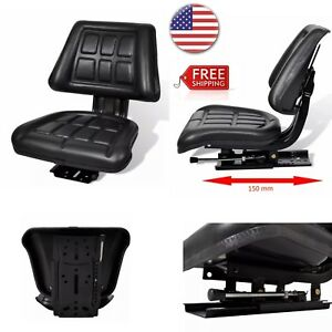 Adjustable Outdoor Garden Farming Tractor Suspension Seat With Backrest New