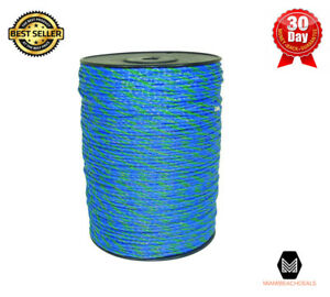 Blue Green Portable Electric Fence Poly Wire Rope Livestock Wildlife Security