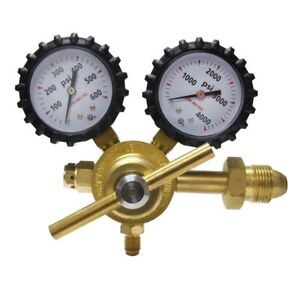 Nitrogen Regulator With 0 800 Psi Cga580 Inlet Connection And 1 4 inch Male