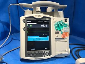 Philips Heartstart Mrx M3538a W M3725a Hard Paddles Test Load Spo2 Extension