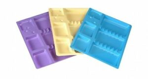Capri Disposable Trays 100 pk Made Plastic Coloured Sheet Separate Compartments