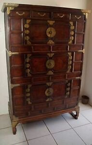 Antique Korean Three Story Chest From Kyong Gi Region 19th Century