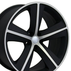 20x9 0 Challenger Charger Srt Replica Rims 5x115 Satin Black X4 New Set Of 4