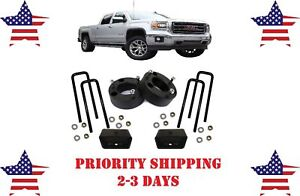 3 Front And 2 Rear Leveling Lift Kit For Chevy Silverado Gmc Sierra 2007 2019