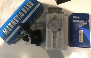 Lot Magnetic Base 2 Aerospace 0 1 001 Lug Back Dial Indicator Rev Count Set