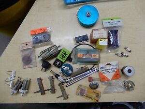 Miscellaneous Lot Of Vintage Electronics And Connectors Switches Hickok Sa 3
