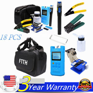 Fiber Optic Ftth Tool Kit Set Power Meter Fiber Clever Visual Fault Locator Usa
