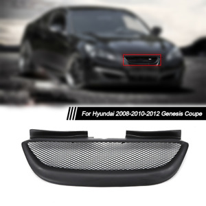 For Hyundai Genesis Coupe 2008 2012 Front Bumper Hood Grille Resin Black