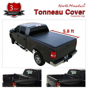 Soft Vinyl Roll up Tonneau Cover Fit 04 07 Silverado sierra 5 8 Fleetside Bed