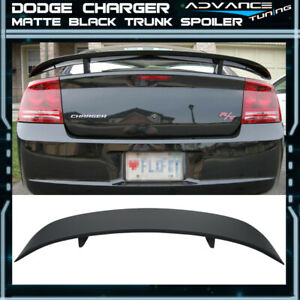 Fits 06 10 Dodge Charger Rear Abs Trunk Spoiler Primer Matte Black Aero