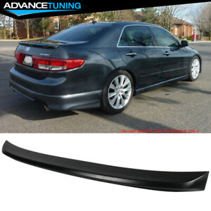 Fit For 03 05 Honda Accord 4d Flush Mount Trunk Spoiler Oe Style Abs