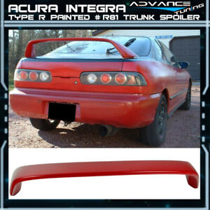94 01 Integra Dc2 Type r Painted R81 Milano Red Trunk Spoiler