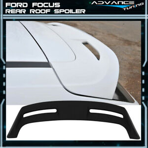 For 12 18 Ford Focus Hatchback St Oe Rear Roof Spoiler Wing Unpainted Abs
