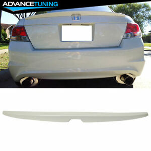 Fits 08 12 Honda Accord Oe Factory Trunk Spoiler Painted White Diamond Pearl