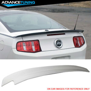 10 14 Ford Mustang Trunk Spoiler Painted Hi P Style White Abs