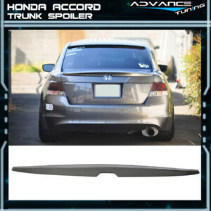 Fits 08 12 Honda Accord Oe Factory Trunk Spoiler Painted Polished Metal Metallic