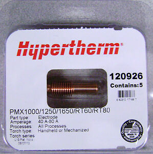 Hypertherm Genuine Powermax 1000 1250 1650 Electrodes 120926