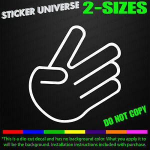 Jdm Show Stopper Hand Sign Funny Car Window Decal Bumper Sticker Mod Tuner 0232