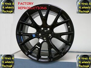 4 20 Tires Wheels Set Gloss Black Hellcat Style Challenger Charger Magnum 300