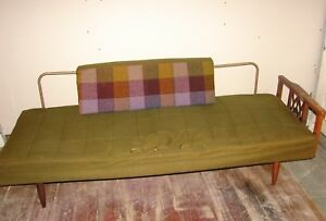 Vintage Mid Century Industrial Metal And Wood Sofa Couch Daybed Project