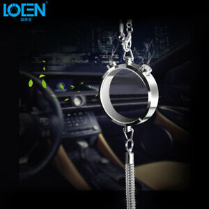 Car Ornament Rear View Hanging Perfume Round Pendant Auto Interior Decoration