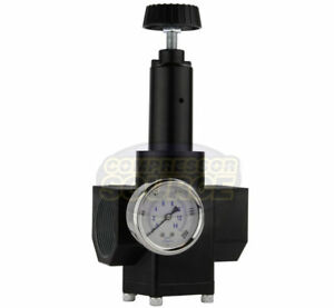2 Inch Inline Compressed Air Compressor In Line Regulator 200 Psi Pressure Gauge