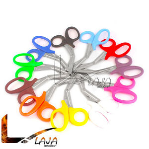 50 Shears Emt Scissors Bandage Paramedic Ems Supplies 10 Different Colors New