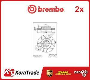 2x 09550975 Brembo Oe Quality Brake Disc Set