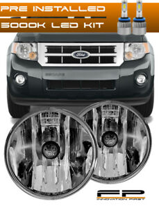 Led 2007 2012 Ford Escape Clear Replacement Fog Light Housing Assembly Pair