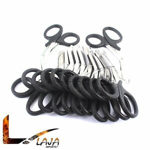 100 Black Emt Shears scissors Bandage Paramedic Ems Rescue Supplies 7 25 New